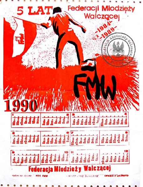 FMW Kraków - kalendarz 1990