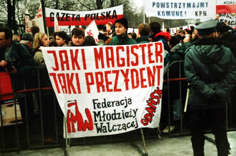 Warszawa zaprzysiężenie Kwaśniewskiego Knap Krzysztof i Robert Licbarski