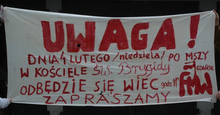 FMW Gdańsk 1990 okupacja KW PZPR