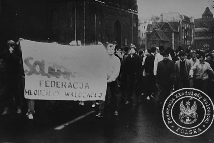 Manifestacja FMW - bojkot wyborów 1988 r.