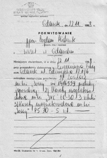 9 - Dokumenty z rewizji w 1988 r.