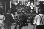 5 - Marek Fila w trakcie pałowania przez ZOMO - manifestacja w 1988 r